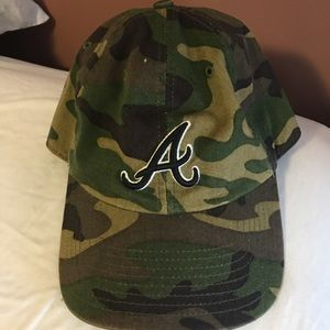 Other - Camo Braves Baseball Hat